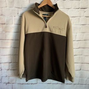 Arnold Palmer Half Zip Pullover, Two Tone, M